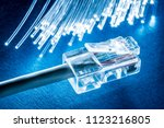 network cable and optical... | Shutterstock . vector #1123216805