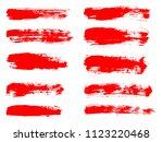 vector red paint  ink brush... | Shutterstock .eps vector #1123220468