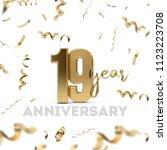 19 year anniversary celebration.... | Shutterstock . vector #1123223708