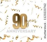90 year anniversary celebration.... | Shutterstock . vector #1123223762
