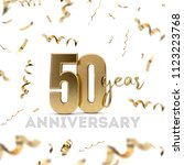 50 year anniversary celebration.... | Shutterstock . vector #1123223768