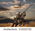 Knight On Horseback  With Armo...