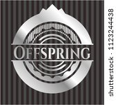 offspring silvery shiny emblem | Shutterstock .eps vector #1123244438