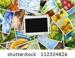 collection of photos with an... | Shutterstock . vector #112324826