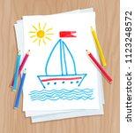 top view vector illustration of ...   Shutterstock .eps vector #1123248572