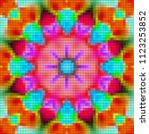 illustration of mosaic images ... | Shutterstock . vector #1123253852