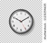 round quartz analog wall clock. ...   Shutterstock .eps vector #1123254635