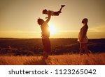 happy family having fun playing ...   Shutterstock . vector #1123265042