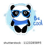 cute panda bear  vector... | Shutterstock .eps vector #1123285895