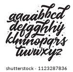 hand lettering typeface set... | Shutterstock .eps vector #1123287836