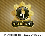 gold badge with businessman... | Shutterstock .eps vector #1123290182