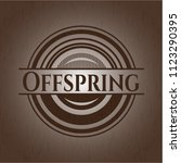 offspring retro style wooden...   Shutterstock .eps vector #1123290395