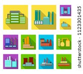 factory and facilities flat... | Shutterstock .eps vector #1123301435