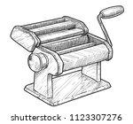 pasta maker  cutter machine... | Shutterstock .eps vector #1123307276