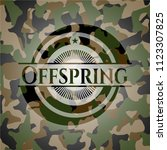 offspring on camo pattern   Shutterstock .eps vector #1123307825