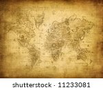 ancient map of the world | Shutterstock . vector #11233081