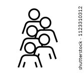 headcount icon  vector... | Shutterstock .eps vector #1123310312