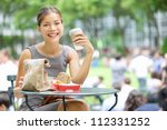 Young Business Woman Lunch Break - Fine Art prints