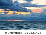 Sunset Over Lake Superior Waves