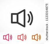 sound vector icon   Shutterstock .eps vector #1123314875