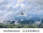thai air force helicopter as a... | Shutterstock . vector #1123328612