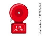 vector illustration. fire alarm ... | Shutterstock .eps vector #1123334045