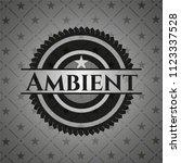 ambient realistic black emblem | Shutterstock .eps vector #1123337528
