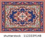 colorful oriental mosaic rug... | Shutterstock .eps vector #1123339148