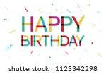 happy birthday banner | Shutterstock .eps vector #1123342298