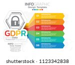 general data protection... | Shutterstock .eps vector #1123342838