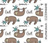 cool cartoon summer print with... | Shutterstock .eps vector #1123346648