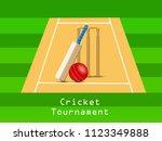 illustration of cricket sport... | Shutterstock .eps vector #1123349888