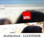 berlin  germany   june 29  2018 ... | Shutterstock . vector #1123350008