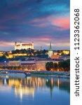 bratislava. cityscape image of...   Shutterstock . vector #1123362068