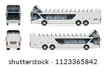 open tour bus vector mockup on... | Shutterstock .eps vector #1123365842