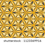 flower seamless pattern vector... | Shutterstock .eps vector #1123369916