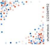 patriotic american stars... | Shutterstock .eps vector #1123369952