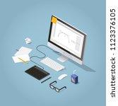 vector isometric illustration... | Shutterstock .eps vector #1123376105
