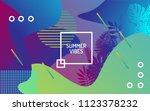 unique artistic summer cards... | Shutterstock .eps vector #1123378232