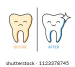 professional teeth cleaning... | Shutterstock .eps vector #1123378745