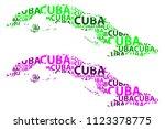sketch cuba letter text map ... | Shutterstock .eps vector #1123378775