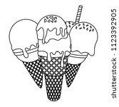 ice cream design | Shutterstock .eps vector #1123392905