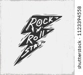 rock n roll star text.vector... | Shutterstock .eps vector #1123394558