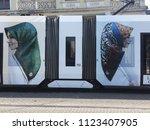 istanbul   june  21  a modern... | Shutterstock . vector #1123407905