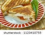 paneer sandwich   indian... | Shutterstock . vector #1123410755