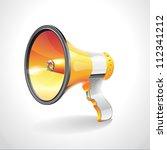 orange megaphone icon ... | Shutterstock .eps vector #112341212
