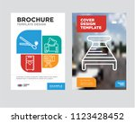 bed brochure flyer design... | Shutterstock .eps vector #1123428452