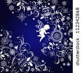 christmas ornate background... | Shutterstock .eps vector #112342868