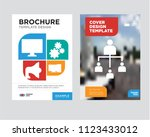 hierarchical structure brochure ... | Shutterstock .eps vector #1123433012
