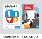 strategy brochure flyer design... | Shutterstock .eps vector #1123433015